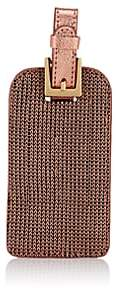 Barneys New York Men's Mesh & Leather Luggage Tag - Gold