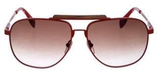 Alexander McQueen Aviator Gradient Sunglasses orange Aviator Gradient Sunglasses