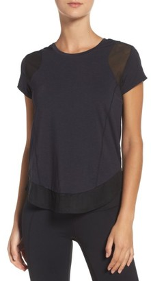 Women's Zella Mesh Inset Training Tee $49 thestylecure.com