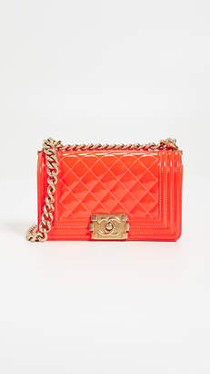 Chanel What Goes Around Comes Around Patent Boy Small Bag
