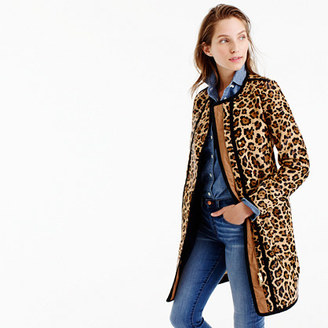 Collection cocoon coat in leopard calf hair $1,800 thestylecure.com