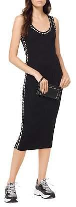 MICHAEL Michael Kors Embellished Ribbed-Knit Midi Dress