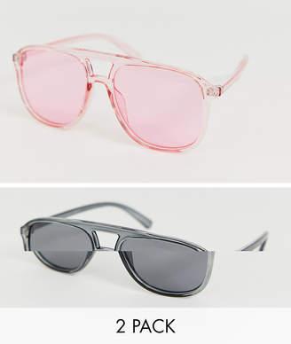 7x SVNX 2 pack tinted sunglasses