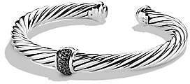 David Yurman Women's Cable Classics Bracelet with Black Diamonds