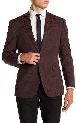 Kenneth Cole Reaction Microchek Slim Fit Blazer
