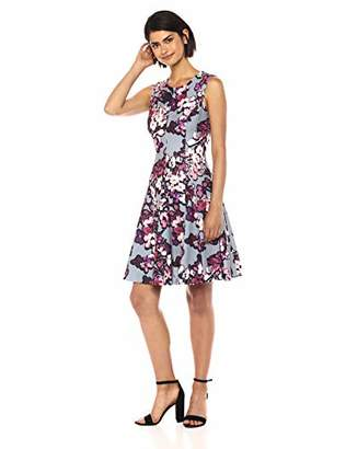 Calvin Klein Women's Sleeveless Princess Seamed a-Line Dress