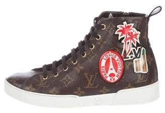 Louis Vuitton Monogram High-Top Sneakers