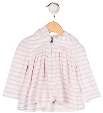 Ralph Lauren Girls' Velvet Striped Top
