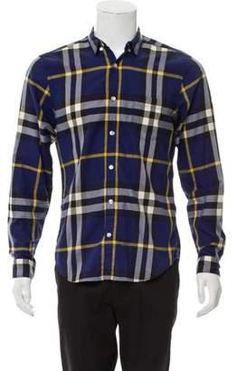 Burberry Plaid Dress Shirt