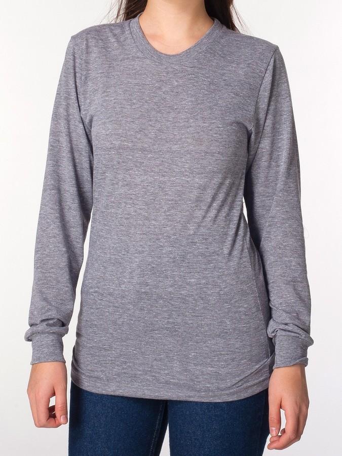 American Apparel Unisex Tri-Blend Long Sleeve Shirt