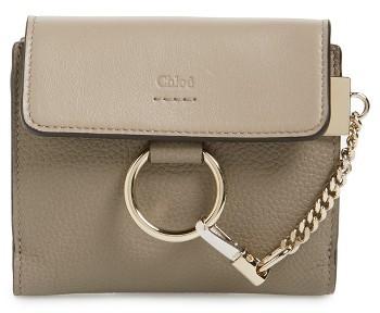 Chloé Women's Chloe Faye Leather Wallet - Grey