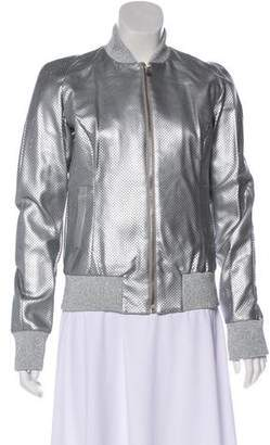 Versace VJC Metallic Perforated Jacket w/ Tags