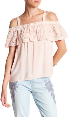 Jessica Simpson Roblin Cold Shoulder Blouse $49.50 thestylecure.com