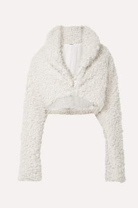 Cult Gaia Evie Cropped Faux Shearling Jacket - Off-white