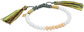 Rebecca Minkoff Tropics Tassel Pulley White Beads with Multi-Tassels Bracelet