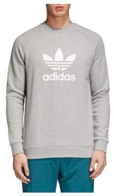 adidas Trefoil Warm-Up Cotton Sweatshirt