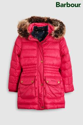 Next Girls Barbour Pink Redpole Quilted Coat