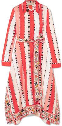 Emilio Pucci Printed Silk-twill Midi Dress - Coral