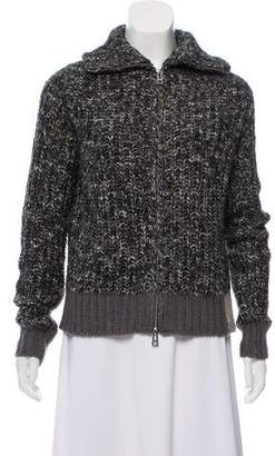 Zadig & Voltaire Rib Knit Zip-Up Cardigan w/ Tags
