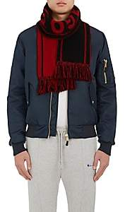 "The Elder Statesman X NBA X NBA MEN'S ""CHICAGO BULLS"" CASHMERE SCARF-BLACK"