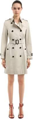 Burberry Kensington Long Cotton Trench Coat