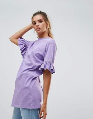 Chorus Frill Sleeve Jersey Top