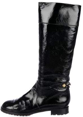 Marc Jacobs Patent Leather Knee Boots