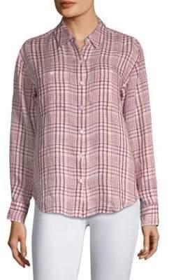Joie Lidelle Linen Plaid Shirt