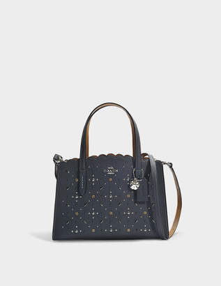 Coach Charlie 27 rivets carryall bag