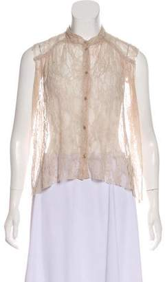 Raquel Allegra Lace Button-Up Blouse