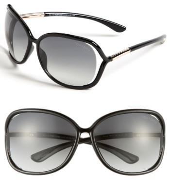 Women's Tom Ford 'Raquel' 63Mm Oversized Open Side Sunglasses - Blk/ Smk
