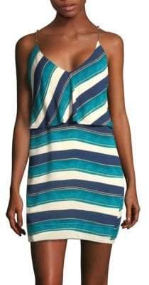 Hermanny ViX by Paula San Andres Striped Mini Dress