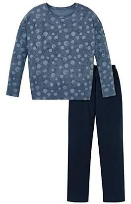 Schiesser Girl's Mädchen Anzug Lang Pyjama Sets, (Jeans Blue 816)