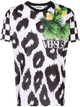 Versus printed tropical logo T-shirt
