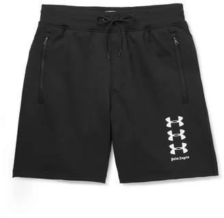 Palm Angels Under Armour Stretch-Jersey Shorts - Men - Black
