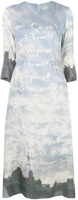 Tsumori Chisato all-over print midi dress