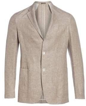 Ermenegildo Zegna Men's Washed Linen, Silk& Wool Jacket - Beige - Size 52 (42) R