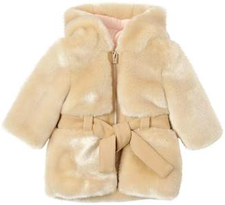 Chloé Hooded Faux Fur Coat