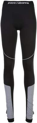 Paco Rabanne contrast panels leggings