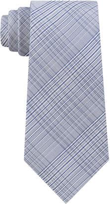 Calvin Klein Men's Hi-Ridge Plaid Slim Tie