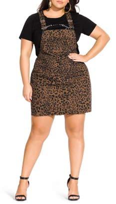 City Chic Jungle Frenzy Jumper Dress