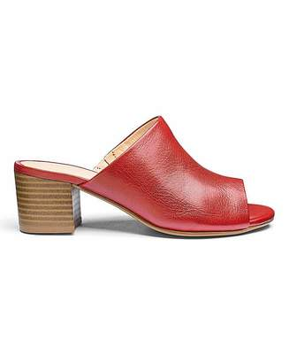 Heavenly Soles Slip On Leather Mules E Fit