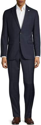 Ted Baker No Ordinary Joe Windowpane Wool Suit