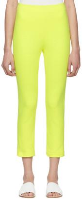 A-Plan-Application Yellow Cigarette Lounge Pants