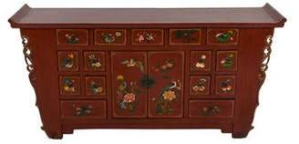Red Lacquer Chinese Cabinet