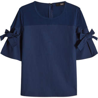 Steffen Schraut Cotton Top with Oversized Bows