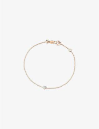 Rosegold The Alkemistry Kismet by Milka diamond heart 14ct rose-gold heart bracelet