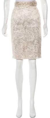 Zac Posen Knee-Length Metallic Skirt