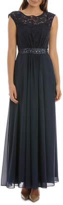 Midnight Lace Bodice Dress