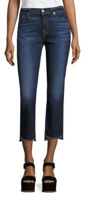7 For All Mankind Step Hem Cropped Bootcut Jeans $199 thestylecure.com